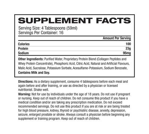 Nutrition Facts For Pro Supps Liquid Amino 23