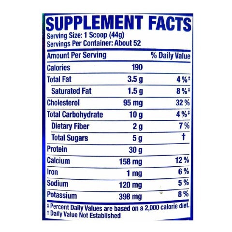 Nutrition Facts For Ronnie Coleman Pro Antium Protein 5.6lb