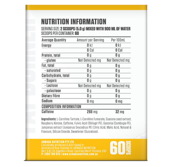 Nutrition Facts For Victory Labs Xenevar Cyro Series Fat Burner