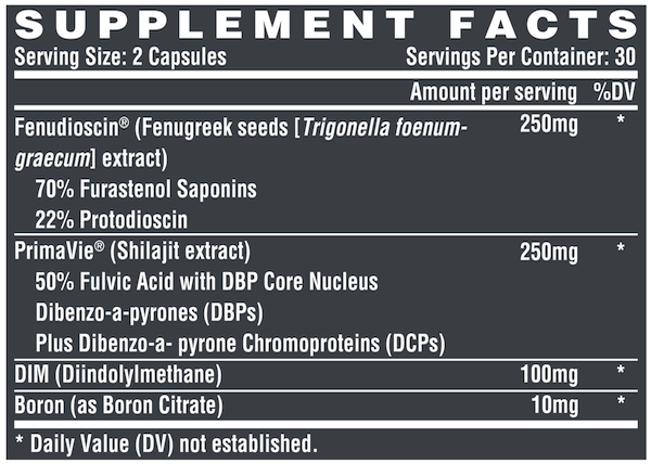 Nutrition Facts For Nutrex Alpha-T