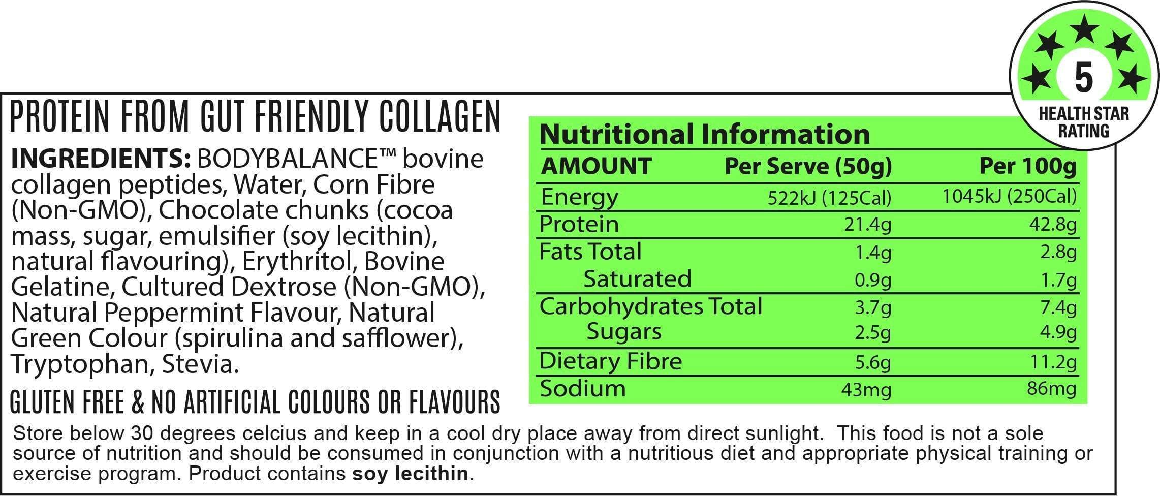 Nutrition Facts For ATP Noway Mallow Protein Bar 12 Box