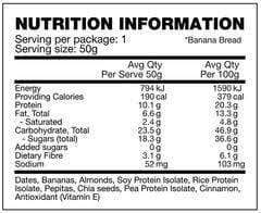 Nutrition Facts For BSC Clean Bar 12 Box