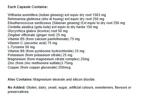 Nutrition Facts For Clinicians Stress & Energy Support