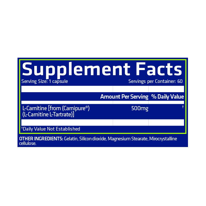Nutrition Facts For USN Pure Carnitine