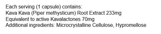 Nutrition Facts For Eve Chill Pills