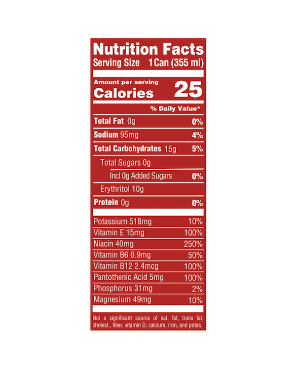 Nutrition Facts For Kill Cliff Ignite 6 pack