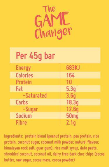 Nutrition Facts For Macro Mike The Gamechanger Bar