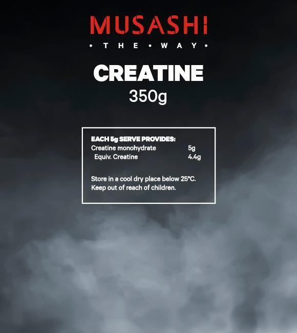 Nutrition Facts For Musashi 100% Creatine