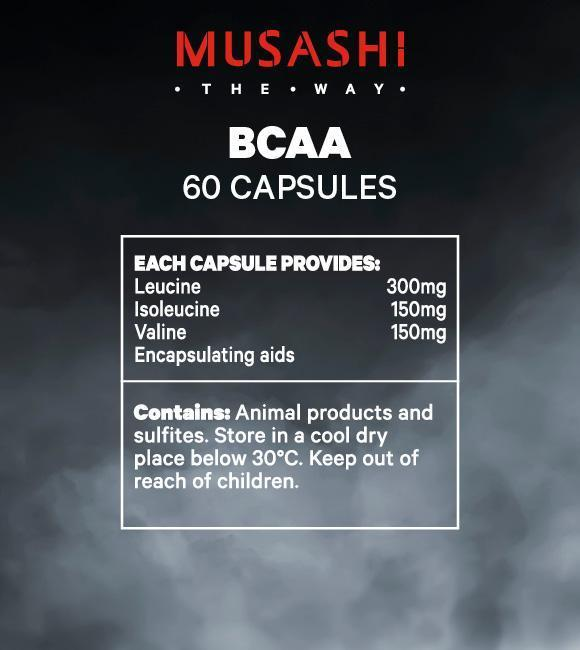 Nutrition Facts For Musashi BCAA