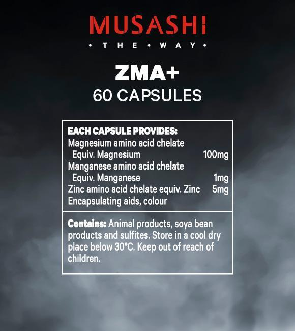 Nutrition Facts For Musashi ZMA+