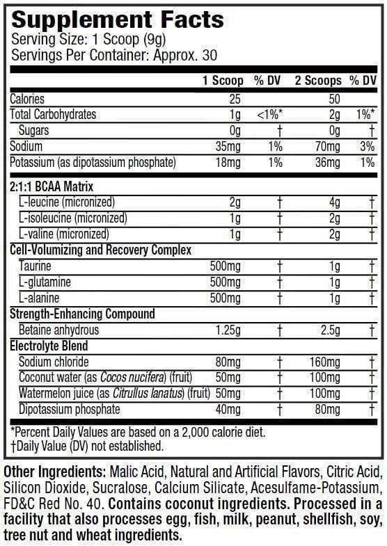Nutrition Facts For Muscletech Amino Build Next Gen