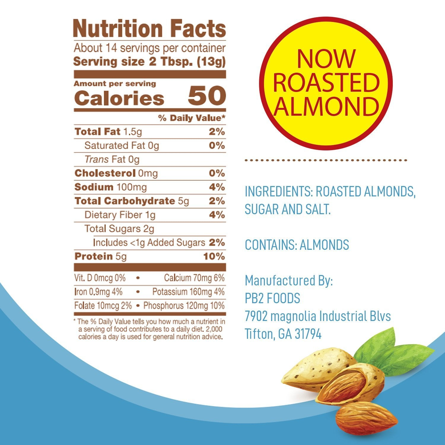 Nutrition Facts For PB2 Powdered Almond Butter