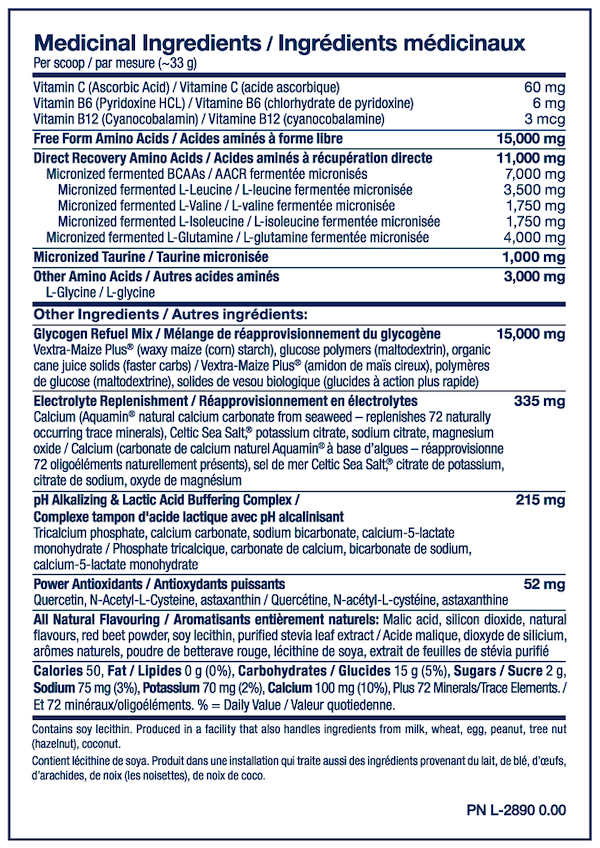 Nutrition Facts For PVL Total Reload