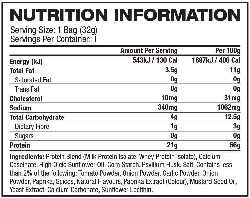 Nutrition Facts For Quest Nutrition Protein Chips 8 Box