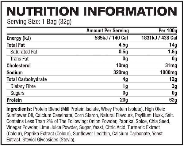 Nutrition Facts For Quest Nutrition Tortilla Chips 8 Box