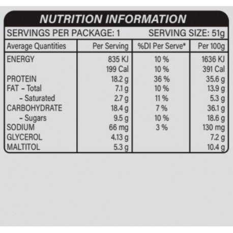 Nutrition Facts For Snickers Hi Protein Peanut Butter Bars 18 Box