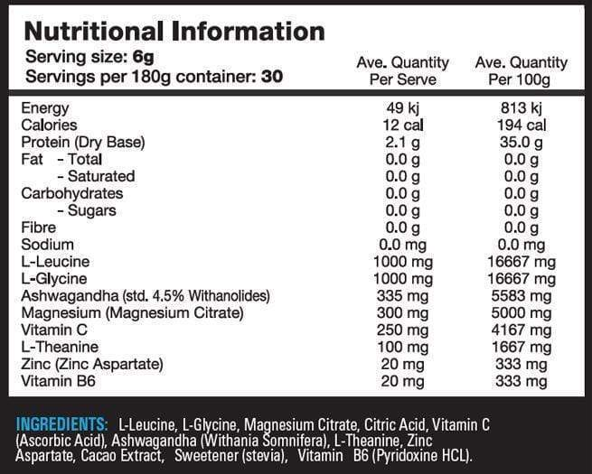 Nutrition Facts For Switch Nutrition Adrenal Switch 60 serve
