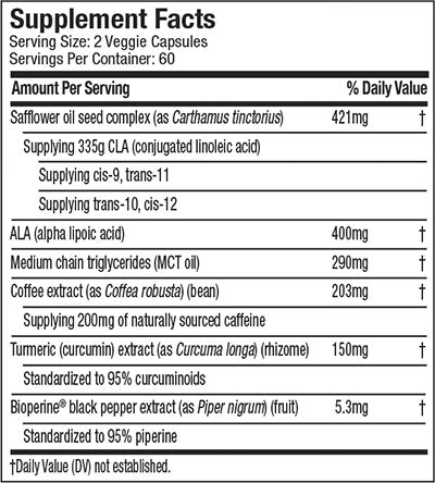 Nutrition Facts For Muscletech Xenadrine Clear - Healthy Weight Loss - 120 Caps