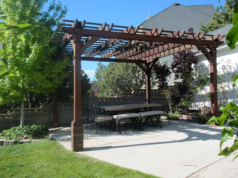 Custom made Redwood Furniture and Pergolas with Best Redwood