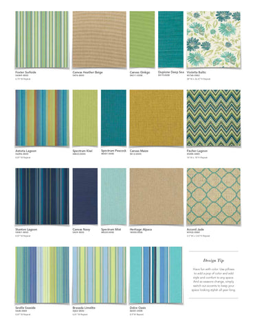 Sunbrella fabric designs