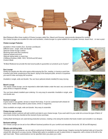 Best Redwood Chaise Lounge catalog