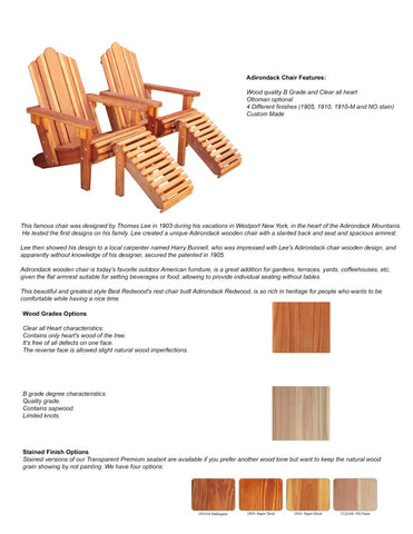 Best Redwood Adirondack chair catalog