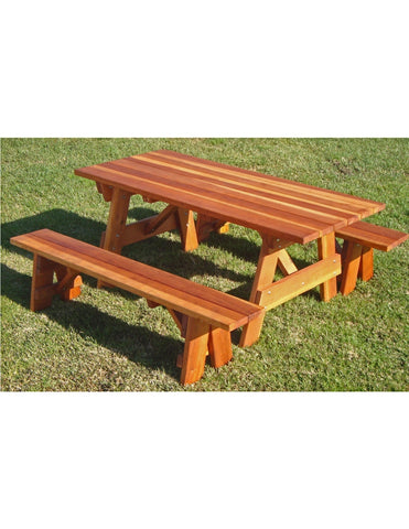 Best Redwood picnic table
