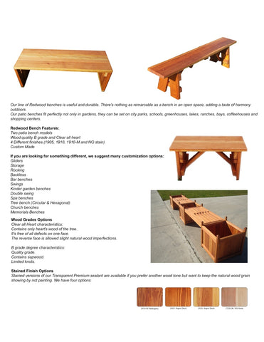 Best Redwood Benches catalog