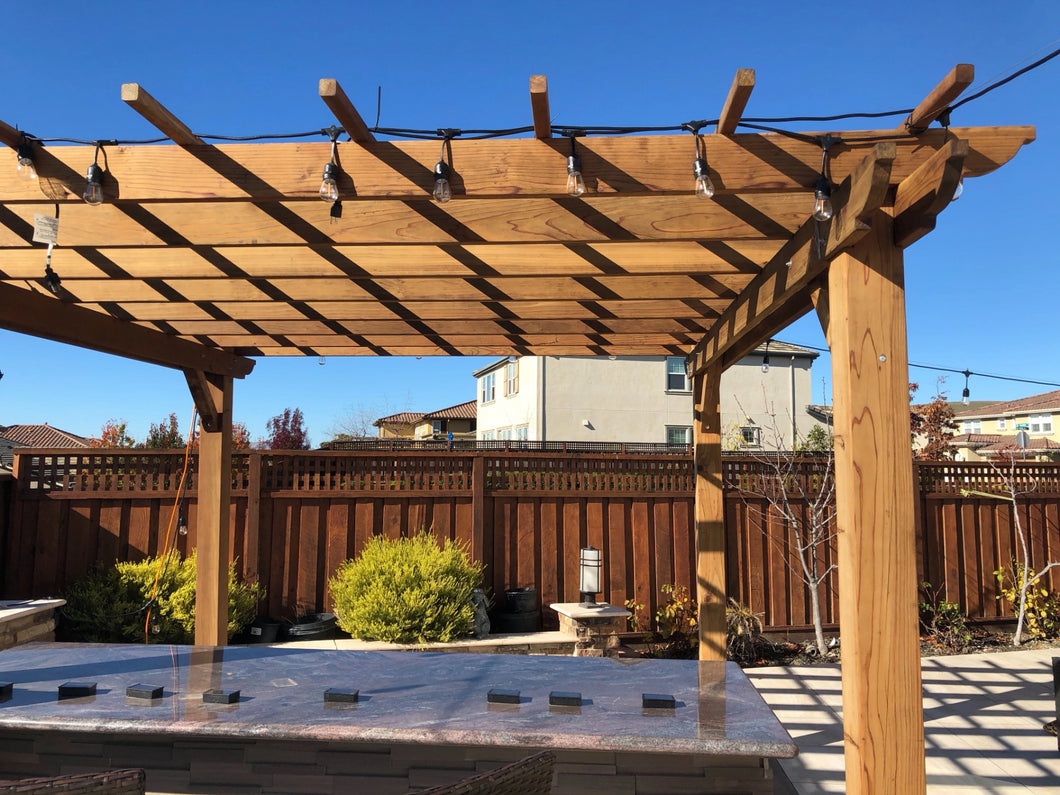 Outdoor Super Deck Redwood Pergola