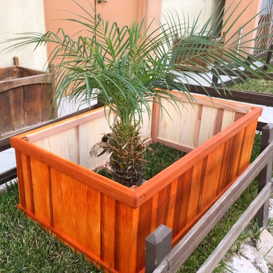Redwood Planter Beds