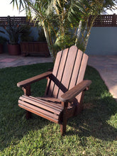 Load image into Gallery viewer, Outdoor Redwood Adirondack Chair