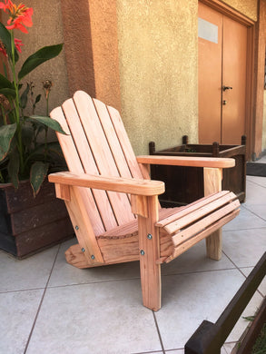 Outdoor Redwood Adirondack Chair