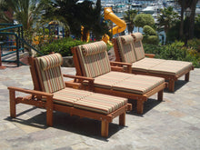Load image into Gallery viewer, Outdoor Sun Redwood Chaise Lounge