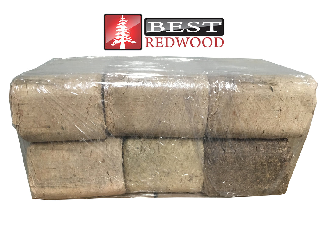 Fire -Blocks - Compressed Hardwood Sawdust in Wood Briquettes - Best Redwood