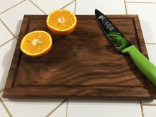 Load image into Gallery viewer, American Walnut Edge Grain With Juice Groove Cutting Board - Best Redwood