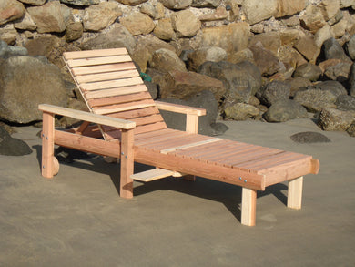 Outdoor Beach Redwood Chaise Lounge