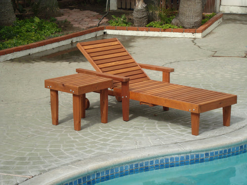 Outdoor Summer Redwood Chaise Lounge - Best Redwood