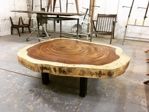 Parota Slab Live Edge Living Room Table - Best Redwood