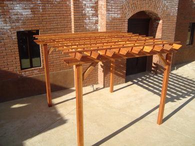 Outdoor Super Deck Redwood Pergola - Best Redwood
