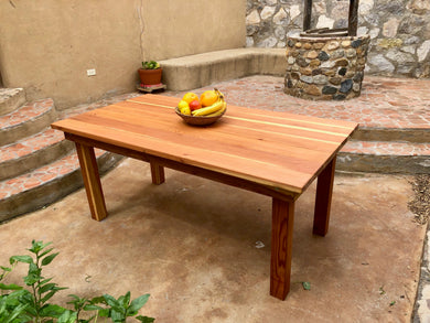 Farmhouse Redwood Outdoor Dining Table