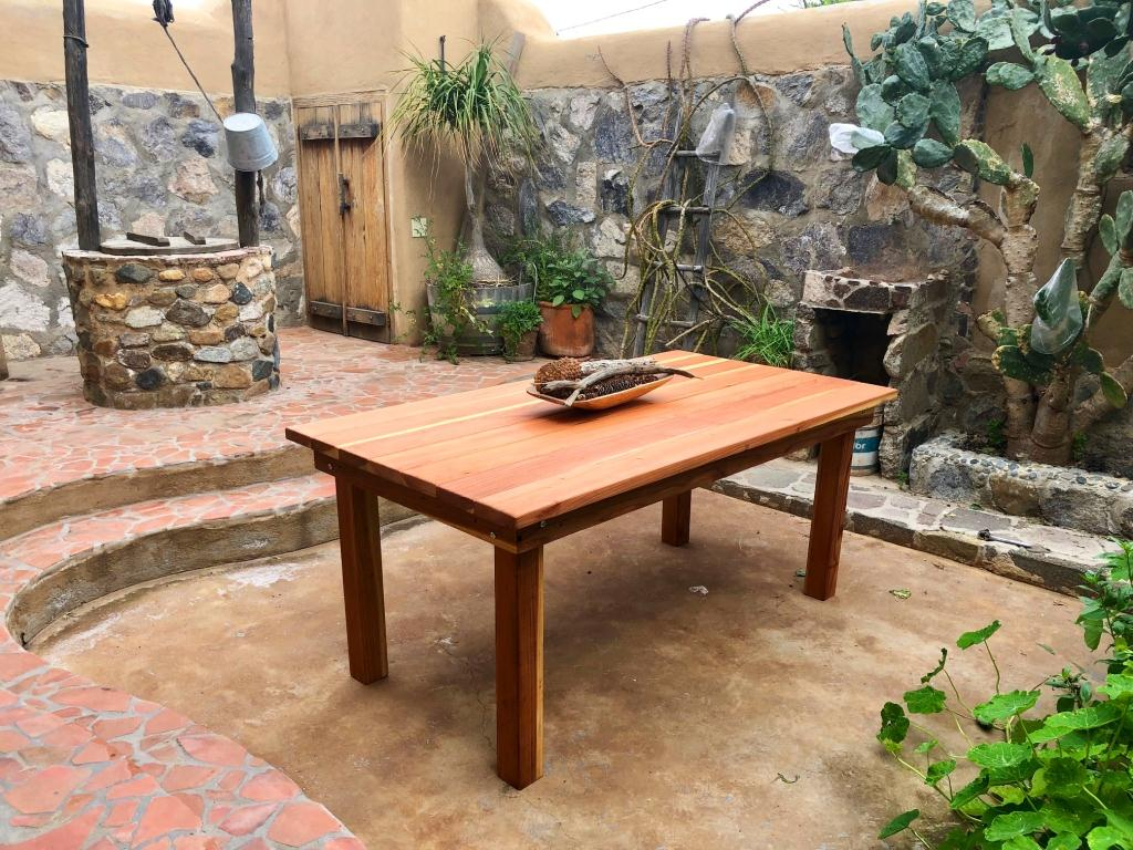 Farmhouse Outdoor Redwood Dining Table 100 Redwood Free Shipping Best Redwood