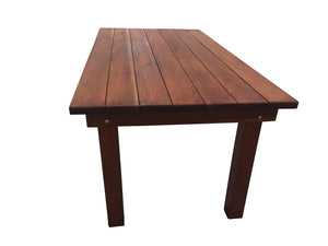 Farmhouse Redwood Outdoor Dining Table - Best Redwood