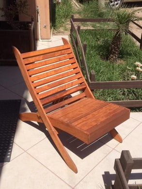 Outdoor Redwood Portable Chair