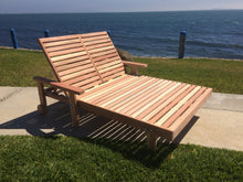 Load image into Gallery viewer, Outdoor Summer Redwood Chaise Lounge