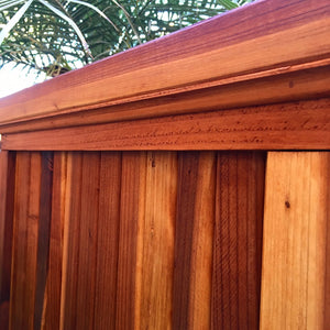 Santa Barbara Redwood Planter Box side view