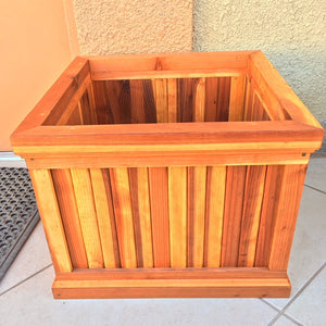 Santa Barbara Redwood Planter Box - Best Redwood