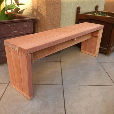Redwood Solid Outdoor Bench