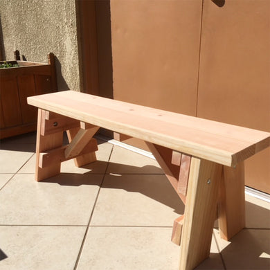 Redwood Picnic Outdoor Bench