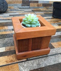 Succulents Redwood Planter Box