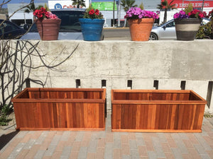 Santa Clara Redwood Planter Box